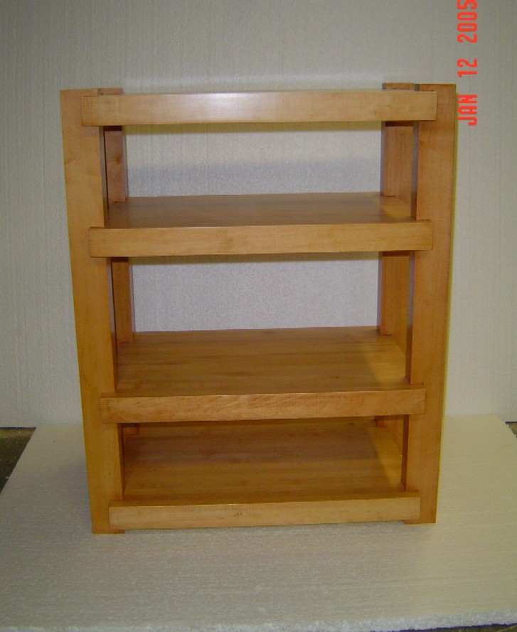 Maple Rack with Light Cherry Stain