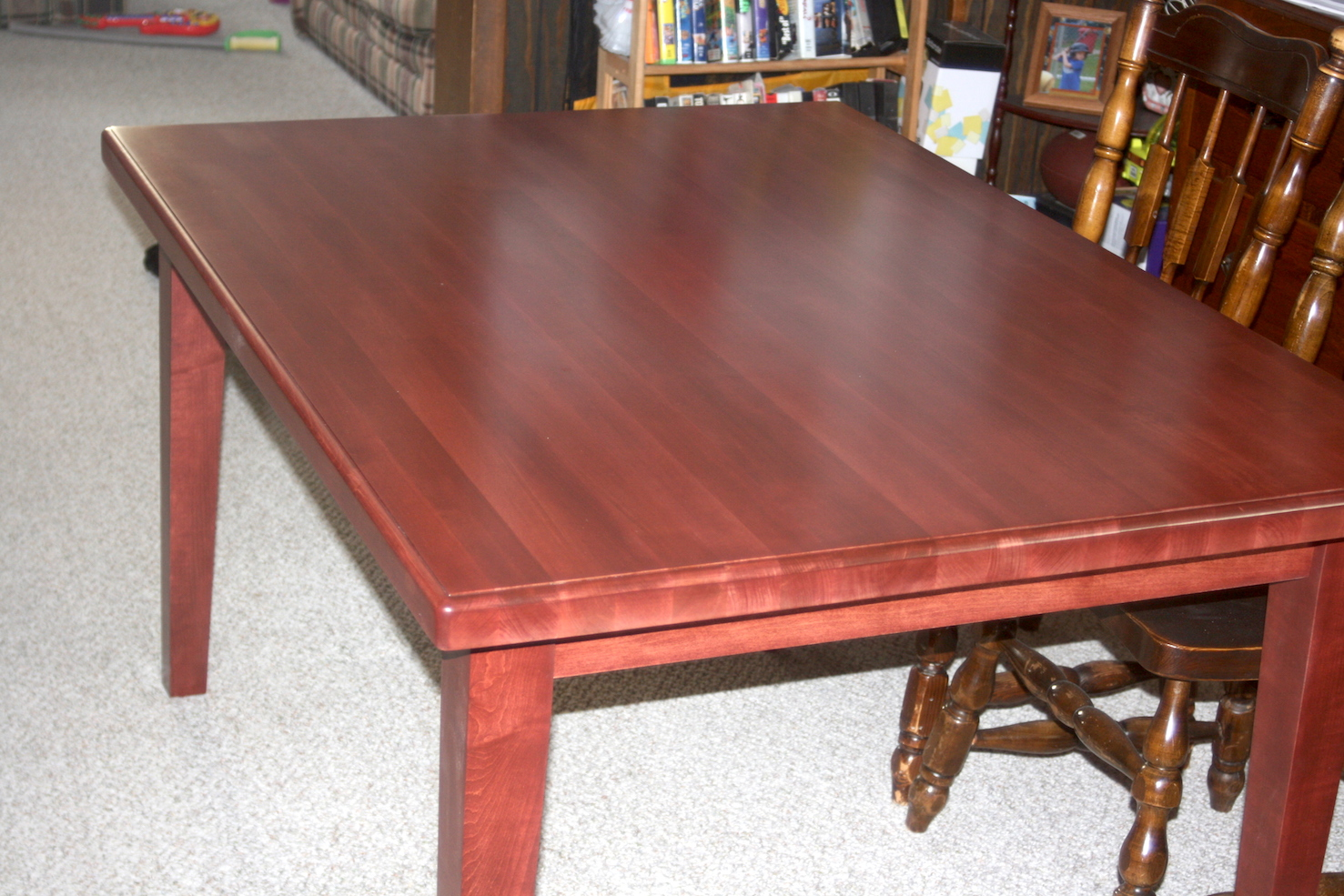 Maple Table w/ Deep Cherry Stain