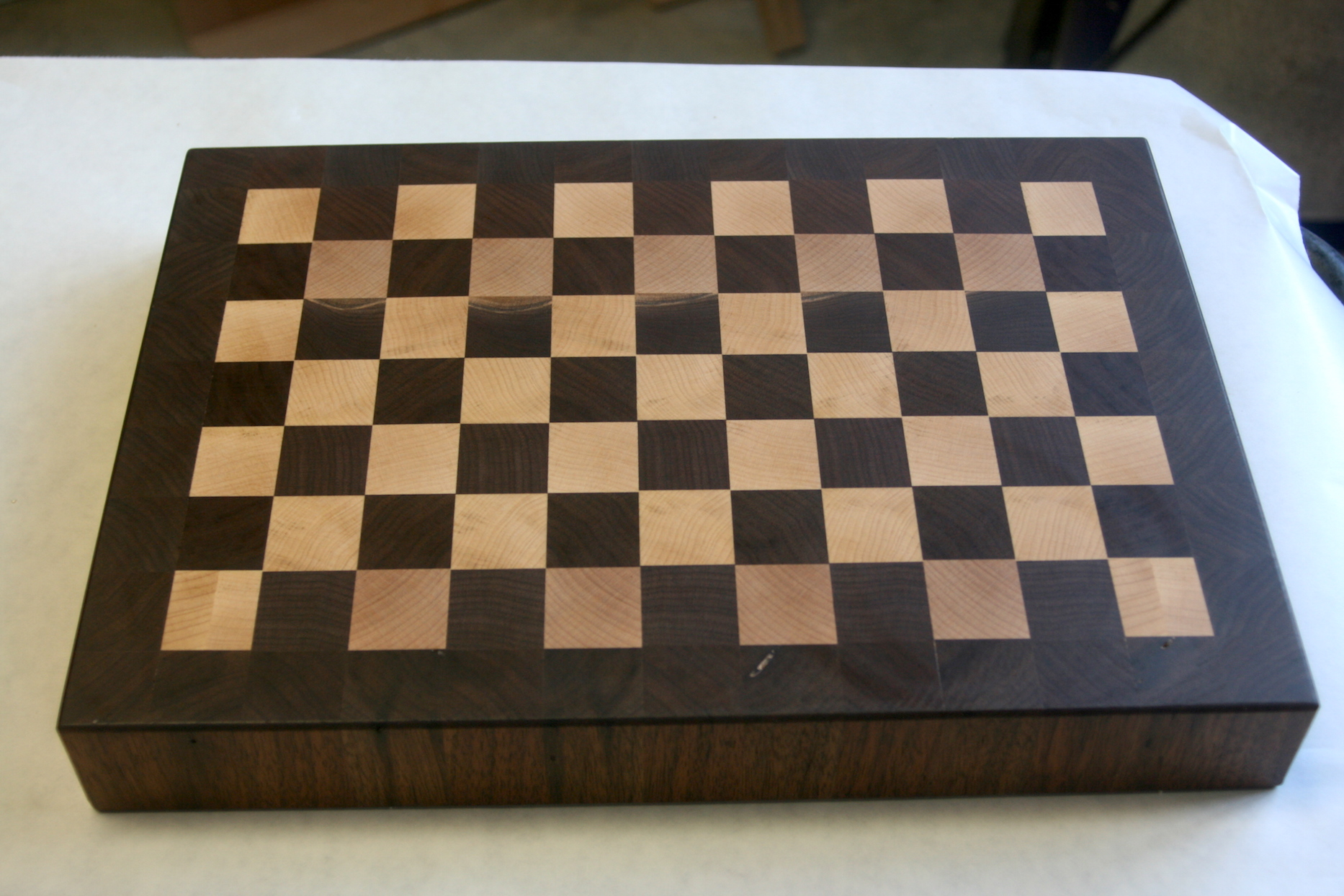 Maple and Walnut Checkered Cutting Board