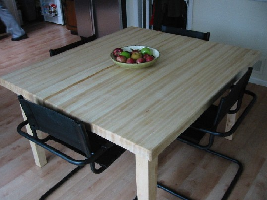 Maple Butcher Block Dining Table