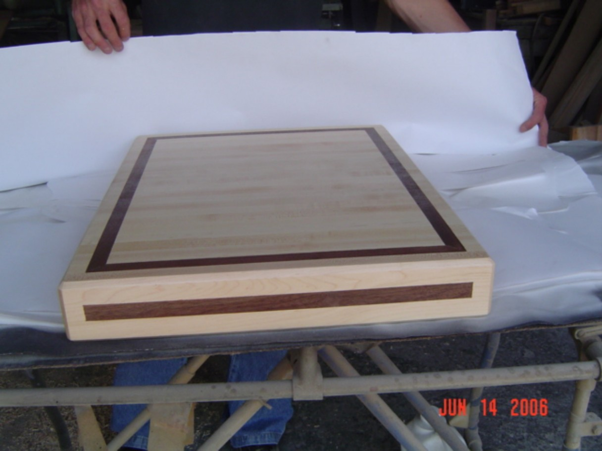 Maple with Walnut inlay