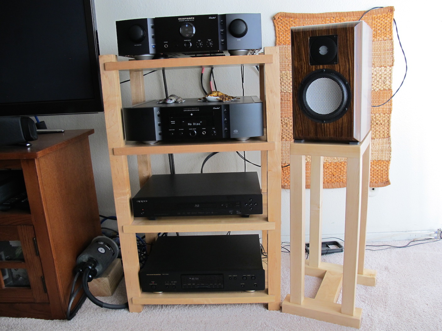 1 inch Maple Rack and Speaker Stand