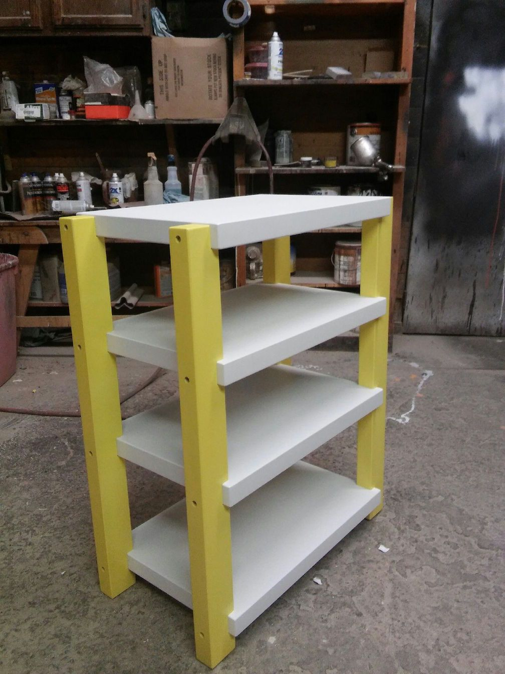 Yellow Posts Stereo Rack